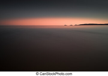 Minimalist Mumbles - Full tide at Swansea Bay showing...
