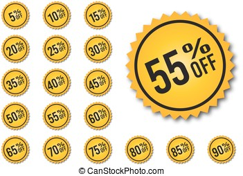 Yellow discount tags