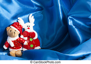 a Christmas decorations on a white background