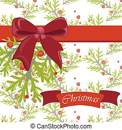 Merry Christmas Happy New Year card. Banner frame border....