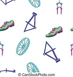 Bicycle equipment pattern, cartoon style
