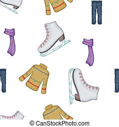 Clothing for winter fun outdoors pattern