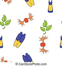 Sweden pattern, cartoon style