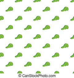 Green playground slide pattern, cartoon style - Green...