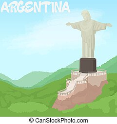 Argentina concept, cartoon style - Argentina concept....