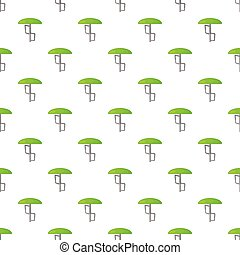 Green playground umbrella pattern, cartoon style - Green...