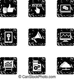 Promotion icons set, grunge style - Promotion icons set....