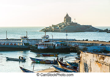 Kanyakumari, Tamil Nadu, India - View on Vivekananda Rock...