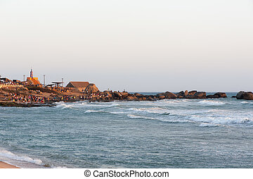 Sunset in Kanyakumari, Tamil Nadu state, India - Sunset view...
