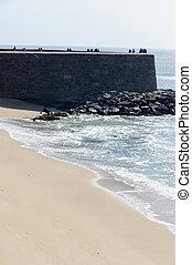 Vattakottai fort and beach, Kanyakumari, Tamil Nadu, India -...