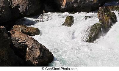 Fast river. Tajikistan. Iskanderdarya