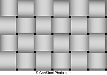 Seamless greyscale braided stripes vector pattern.