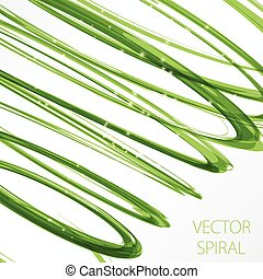 Glowing spiral on white background. Nature colors abstract...