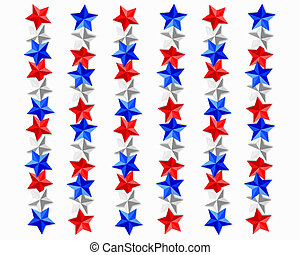 Patriotic stars background
