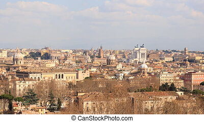 The view from the Janiculum Hill (Gianicolo). Panorama....