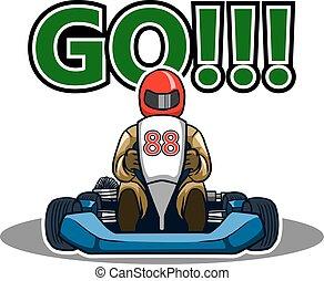 Go Gokart Race - Vector illustration for go kart race theme