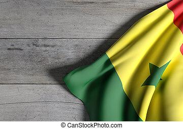 Senegal flag waving - 3d rendering of Senegal flag waving on...