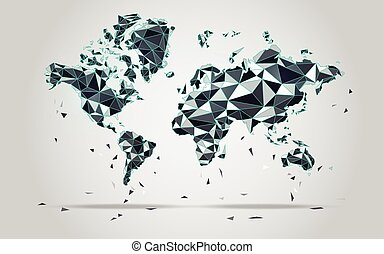 worldmap - World map in polygonal style; polygon elements...