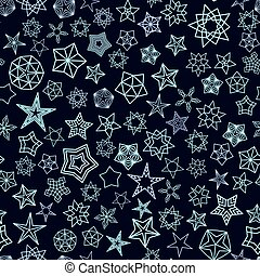 Stars Pattern from silver starry elements