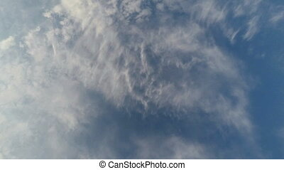 Beautiful clouds over the blue sky - Time-lapse, beautiful...
