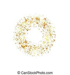 Isolated abstract golden circle logo. Round shiny luxurious...