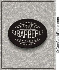 Poster design for Barbershop - Stylish background for...