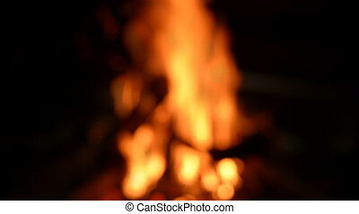 Campfire with bokeh - Fire theme creative abstract blur...