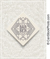 Stylish poster design for Barbershop - Stylish background...