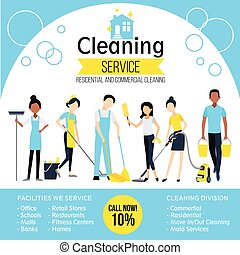 Cleaning Company Poster - Cleaning company poster with...
