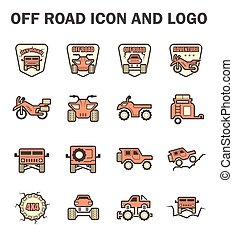 Off Road Icon - Vector icon and logo design of off-road...