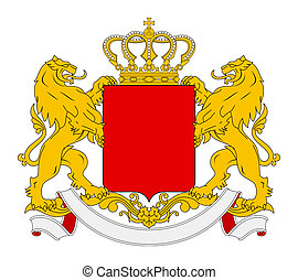 Blank Coat of Arms - Blank coat of arms, seal or national...