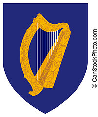 Ireland Coat Arms - Ireland coat of arms, seal or national...