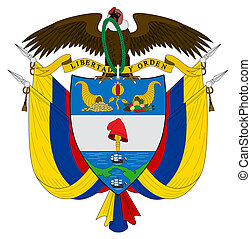 Colombia Coat of Arms - Colombia, coat of arms, seal or...