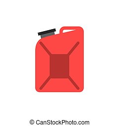 red gallon icon over white background. colorful design....