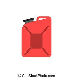 red gallon icon over white background. colorful design....