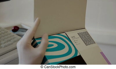 Scanning bio materials. modern medical equipment - modern...