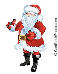 Christmas greeting card background poster with Santa Claus