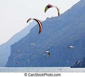 Parasurfing on Lake Garda