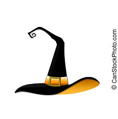 Witch Hat - Whimsical illustration of a Halloween witch hat