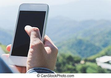 Communication technology, People Using a Smart Phone...