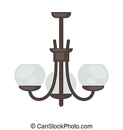 Lamp set isolated. Interior light design. - Lamp isolated....