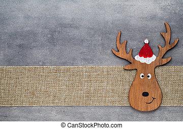 gnomo, Símbolo, Saudação, fundo,  Noel, Natal, cartão