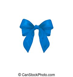blue bow, vector illustration