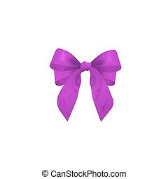 purple bow, vector illustration
