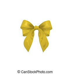 yellow bow, vector illustration