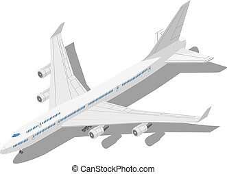 Civil aircraft Isometric vector illustration isolated on...