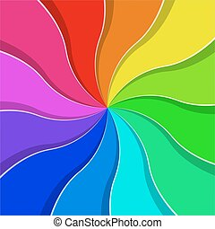 Rainbow colored abstract fan vector background.