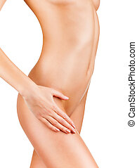 Body care - Beautiful well-groomed body of a woman isolated...
