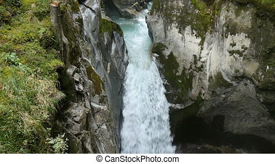 Wild water stream in austrian alps near innsbruck