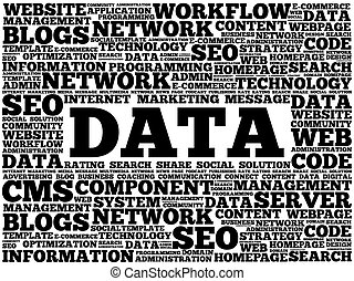 DATA word cloud, business concept